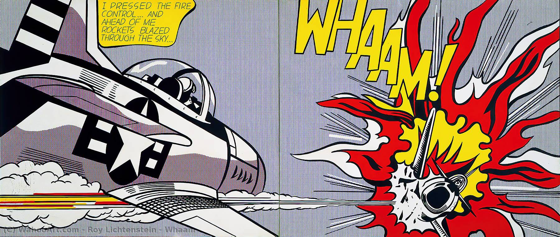 Whaam!, 1963 by Roy Lichtenstein (1923-1997, United States) |  | WahooArt.com