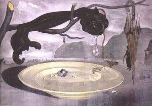 Salvador Dali - The Enigma of Hitler - (Famous paintings reproduction)