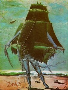 Salvador Dali - The Ship - (paintings reproductions)
