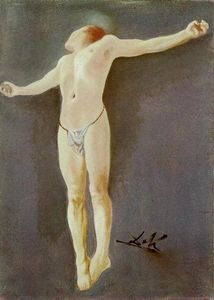 Salvador Dali - Crucifixion - (Famous paintings)
