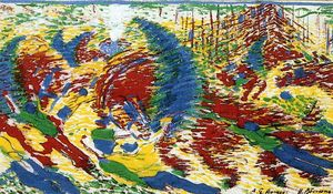 Umberto Boccioni - The City Rises - (paintings reproductions)