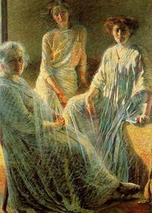 Umberto Boccioni - Three Women - (Famous paintings reproduction)