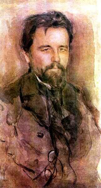 Retrato de Antón Chéjov, 1903 de Valentin Alexandrovich Serov ...