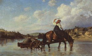 Пересечение реки Оять