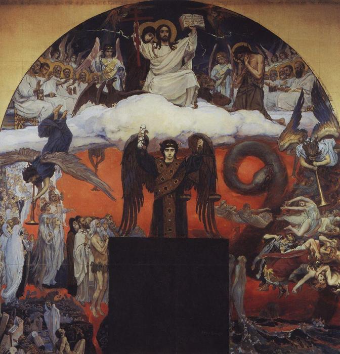 Tag Des Jüngsten Gerichts 1896 Von Victor Vasnetsov 1848 1926
