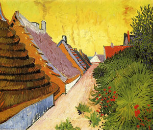 Vincent Van Gogh - Street in Saintes-Maries - (Famous paintings)