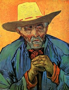 Vincent Van Gogh - Portrait of Patience Escalier - (Famous paintings)