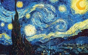 Vincent Van Gogh - The Starry Night - (paintings reproductions)
