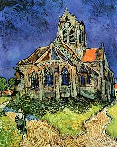 Vincent Van Gogh - The Church at Auvers - (paintings reproductions)