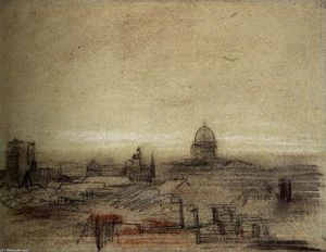 Vincent Van Gogh - View of Paris with Notre-Dame and the Pantheon