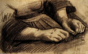 Vincent Van Gogh - Lap with Hands