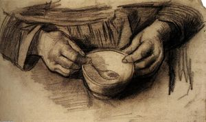 Vincent Van Gogh - Lap with Hands and a Bowl