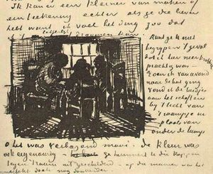 Vincent Van Gogh - Three Persons Sitting at the Window