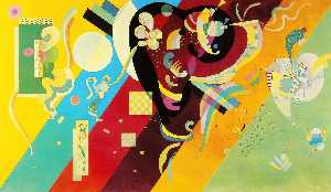 Wassily Kandinsky - Composition IX - (Famous paintings reproduction)