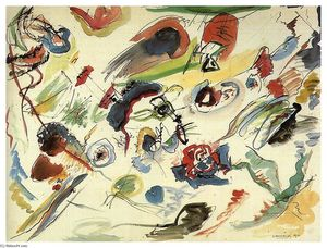 Wassily Kandinsky - Untitled (First abstract watercolor)