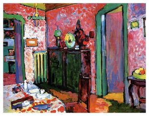 Wassily Kandinsky - Interior (My dining room) - (oil painting reproductions)