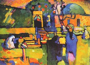 Wassily Kandinsky - Arabs I (Cemetery) - (Famous paintings reproduction)