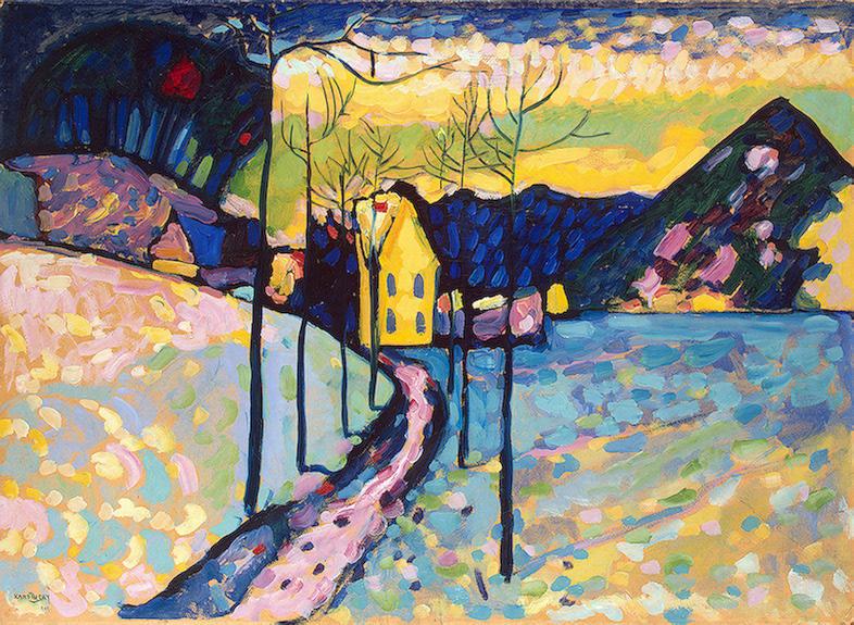 Paesaggio invernale, 1909 di Wassily Kandinsky (1866-1944, Russia ...
