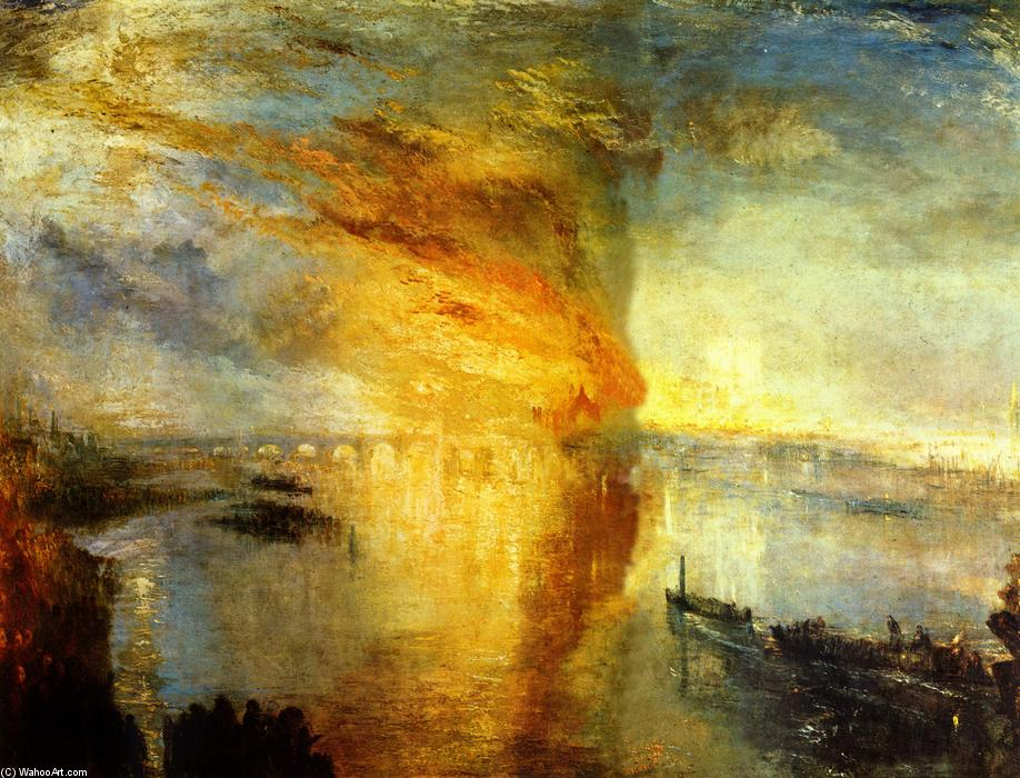 The Burning of the Houses of Parliament, 1835 by William Turner (1775-1851, United Kingdom) | Reproductions William Turner | WahooArt.com