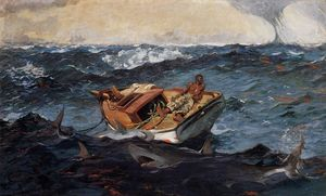 Winslow Homer - The Gulf Stream - (oil painting reproductions)