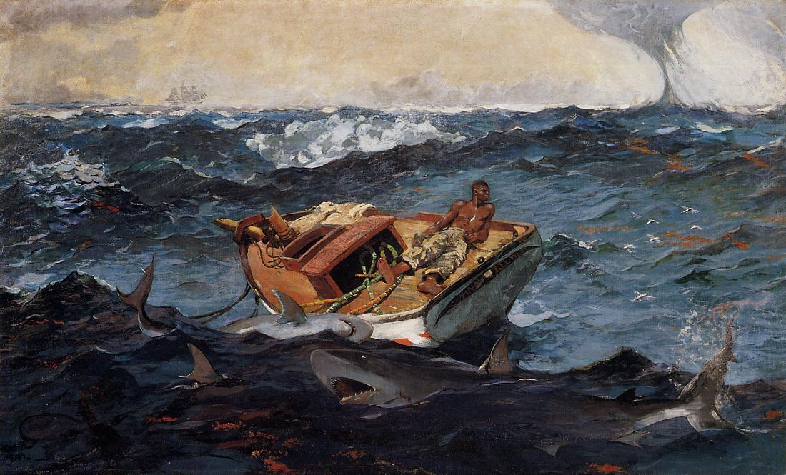 The Gulf Stream, 1906 by Winslow Homer (1836-1910, United States) | Museum Quality Reproductions | WahooArt.com