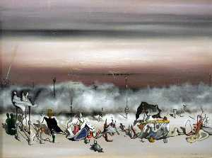 Yves Tanguy - The Ribbon of Excess - (oil painting reproductions)