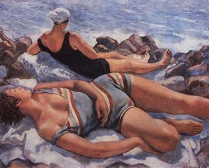 Zinaida Serebriakova - On the beach