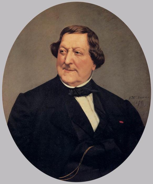 ジョアキーノ·ロッシーニのポートレート, 1874 バイ Vito D' Ancona ...