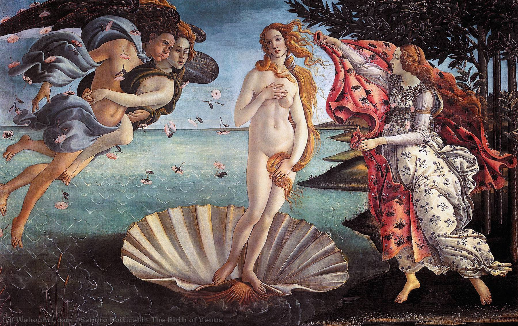 The Birth of Venus, 1486 by Sandro Botticelli (1445-1510, Italy) | Art Reproduction | WahooArt.com
