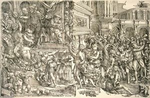 Domenico Campagnola - Massacre of the Innocents - (paintings reproductions)