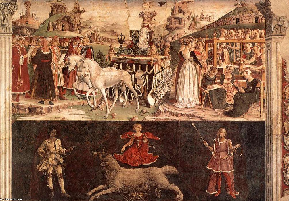 Allegory of March: Triumph of Minerva, 1476 by Francesco Del Cossa (1436-1477, Italy) | Museum Quality Reproductions | WahooArt.com