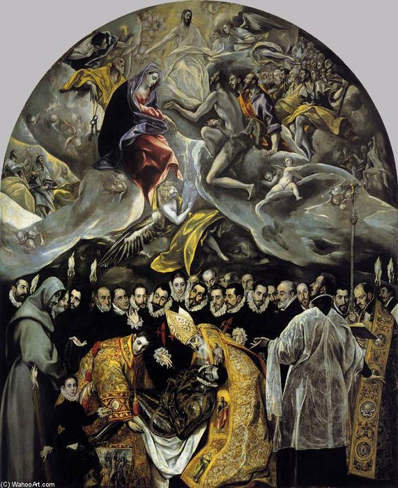 The Burial of the Count of Orgaz, 1586 by El Greco (Doménikos Theotokopoulos) (1541-1614, Greece) | Painting Copy | WahooArt.com