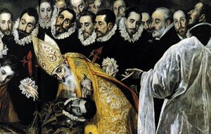El Greco (Doménikos Theotokopoulos) - The Burial of the Count of Orgaz (detail)