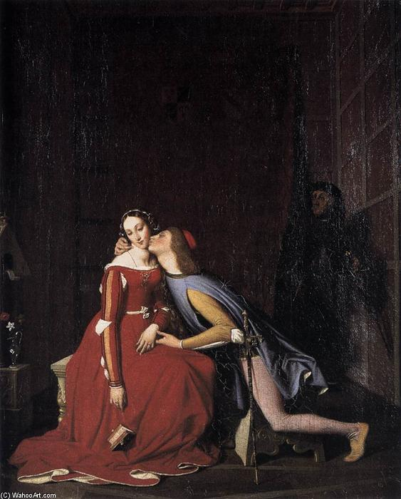 Paolo and Francesca, 1819 by Jean Auguste Dominique Ingres (1780-1867, France) | Museum Art Reproductions Jean Auguste Dominique Ingres | WahooArt.com