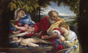 Lorenzo Lotto - Rest on the Flight into Egypt