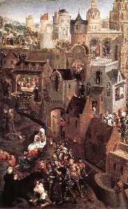 Hans Memling - Scenes from the Passion of Christ (left side) - (Famous paintings reproduction)