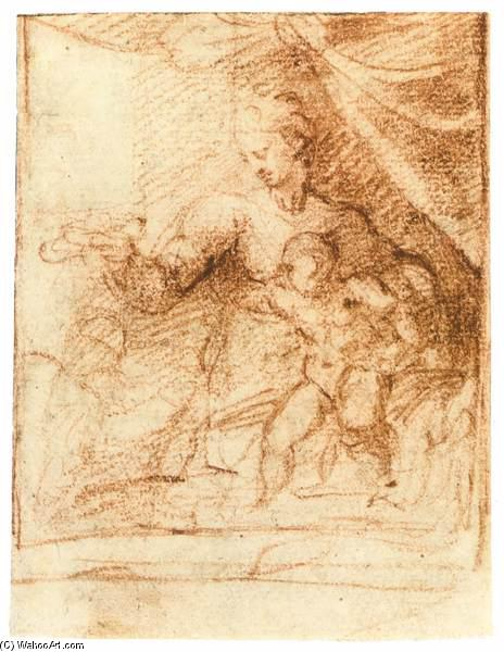 michelangelo drawing madonna and child 1525 - 464×600