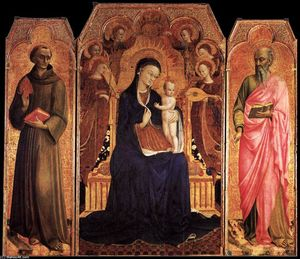 Sassetta (Stefano Di Giovanni) - Virgin and Child with Saints