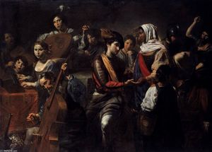 Valentin De Boulogne - Company with Fortune-Teller