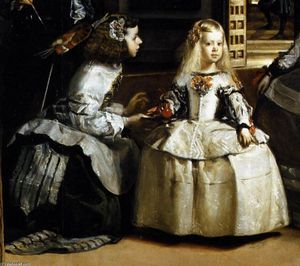 Diego Velazquez - Las Meninas (detail) - (paintings reproductions)