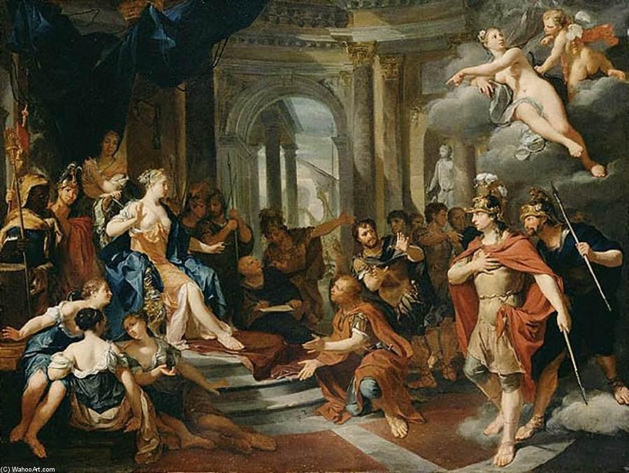 Dido e Aeneas por Nicolaas Verkolje (1673-1746, Netherlands)   Museu De  Reproduções De Arte Nicolaas Verkolje   WahooArt.com