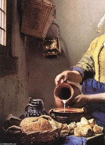 Jan Vermeer - The Milkmaid (detail)