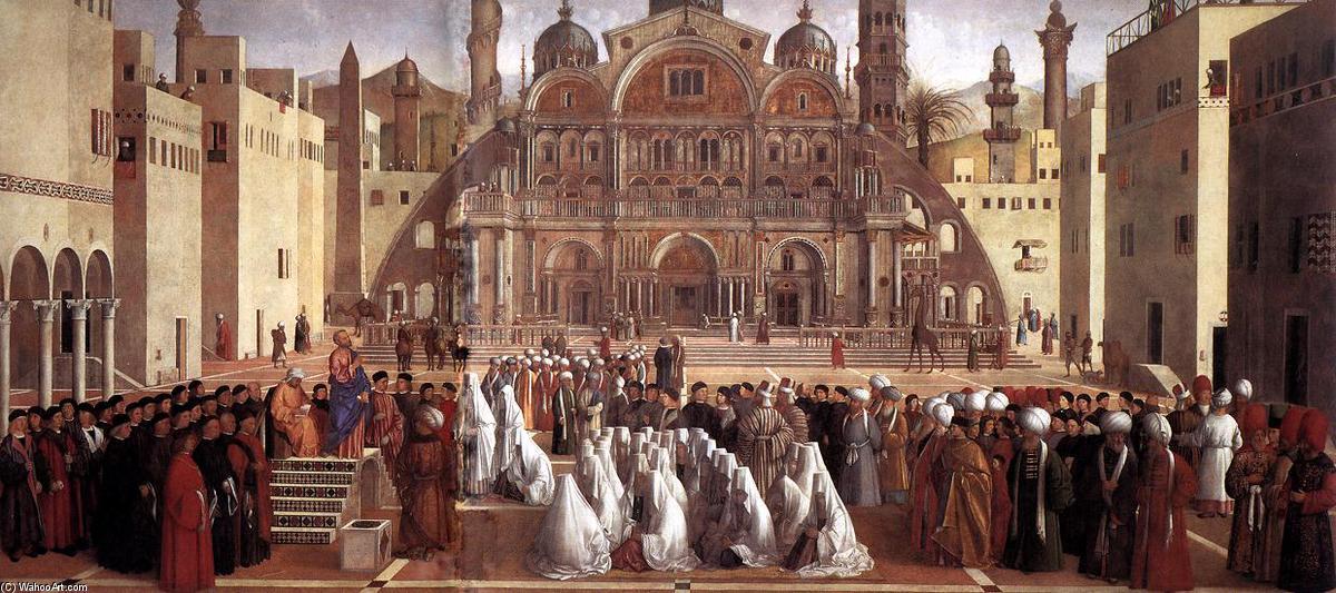 Sermon de Saint-Marc à Alexandrie, 1504 de Giovanni Bellini (1433 ...
