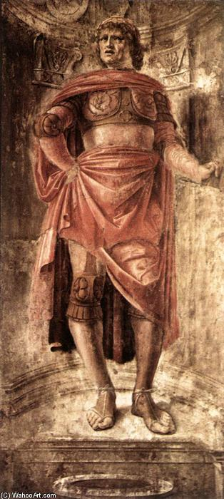Man with a Broadsword, 1481 by Donato Bramante (1444-1514, Italy) | Museum Art Reproductions Donato Bramante | WahooArt.com