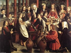 Gerard David - The Marriage at Cana - (paintings reproductions)