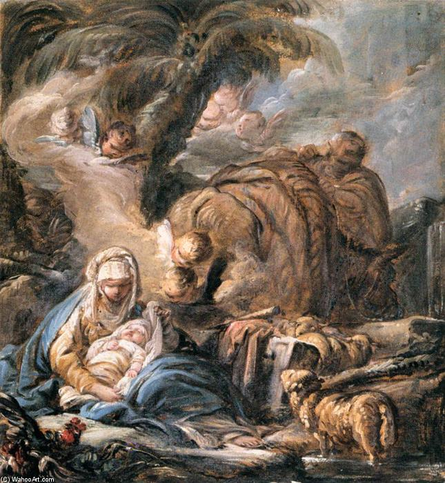 The Flight into Egypt by Jean Baptiste Deshays (1729-1765, France) | Painting Copy | WahooArt.com