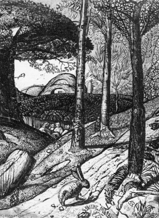 Early Morning (detail), 1825 by Samuel Palmer (1805-1881, United Kingdom) | Art Reproductions Samuel Palmer | WahooArt.com