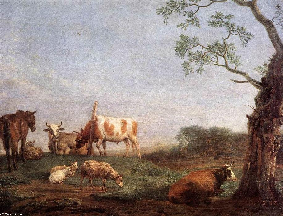Resting Herd, 1652 by Paulus Potter (1625-1654, Netherlands) | Art Reproduction | WahooArt.com