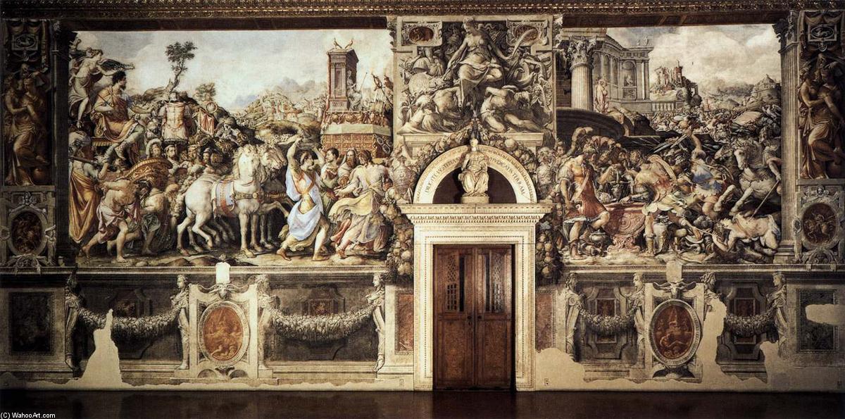 Storie di Furio Camillo, 1545 di Cecchino Del Salviati (1510