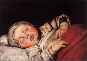 Bernardo Strozzi - Sleeping Child - (oil painting reproductions)